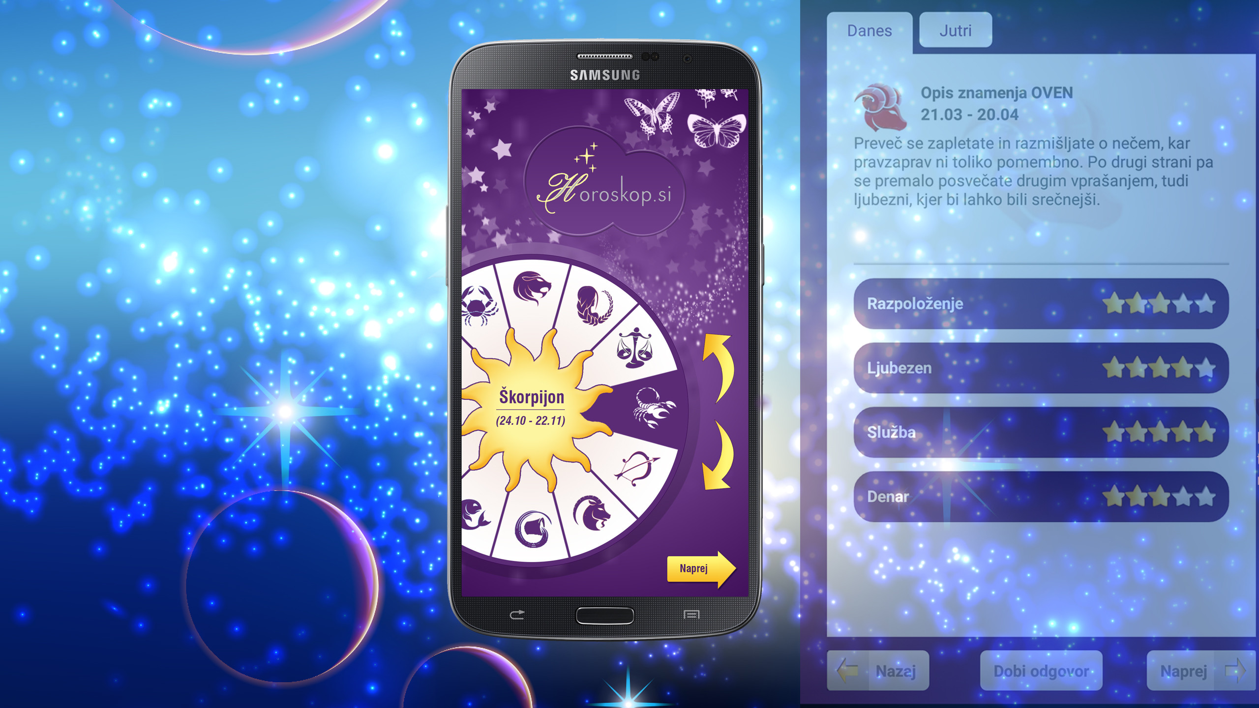Spremljajte svoj dnevni horoskop na aplikaciji.