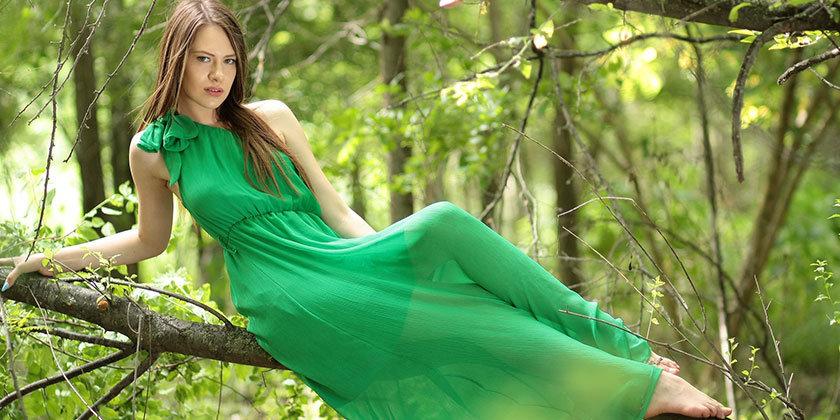 Zelena barva, njena svežina in pomen