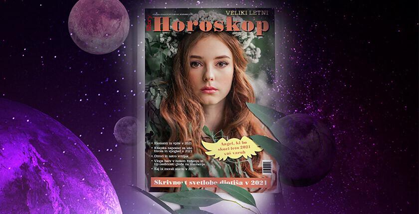 Revija Veliki letni horoskop 2021 z obširnimi astro napovedmi za vsa znamenja zodiaka