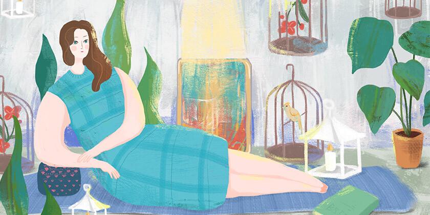 Bralka Maja je zelo obupana, saj se skozi življenje vrti v začaranem krogu debelosti